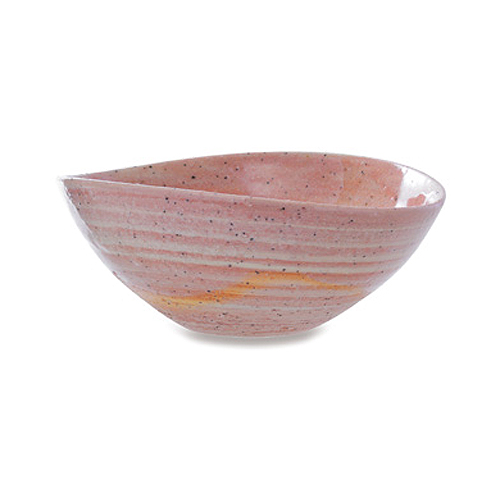 画像1: 星霜たわみ鉢(桃色)