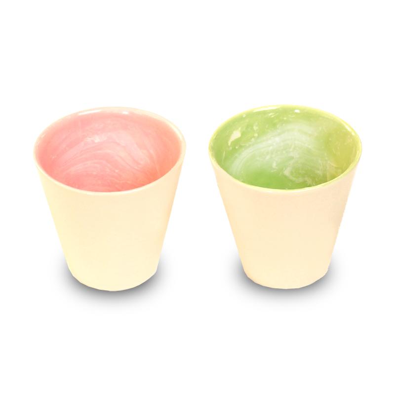 画像1: earth in the cup pair (coral / forest)