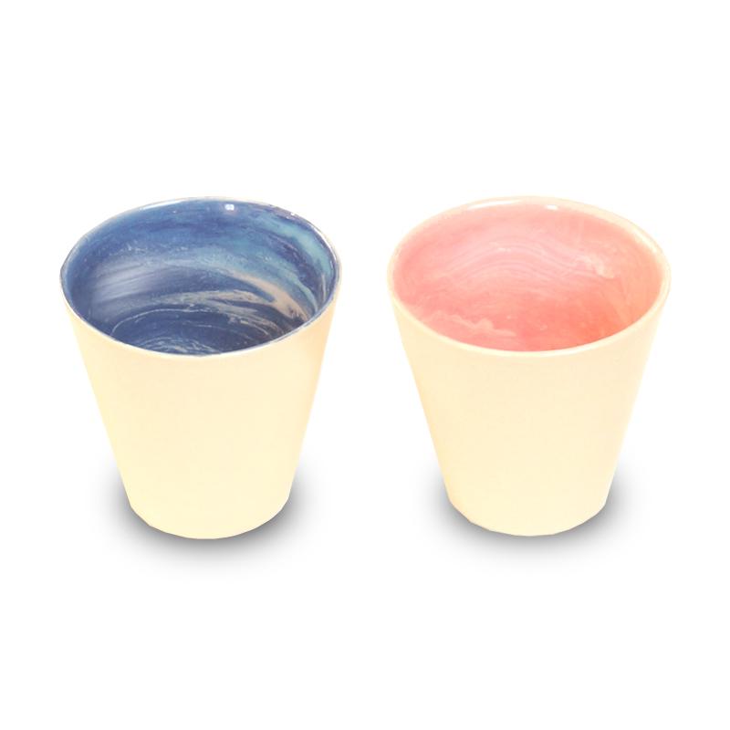 画像1: earth in the cup pair (earth / coral)