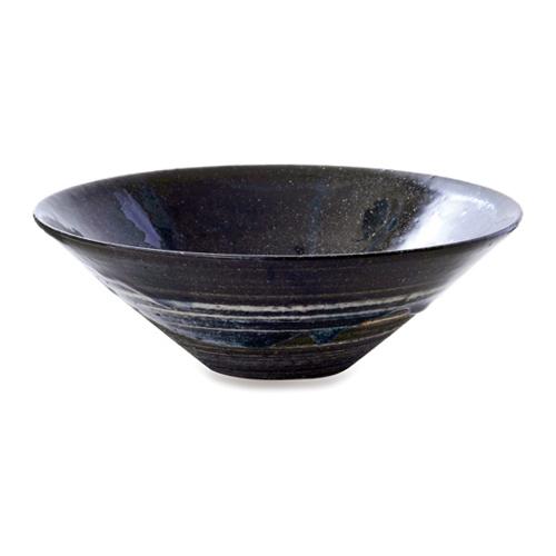 画像1: 星霜ひら鉢(黒色)