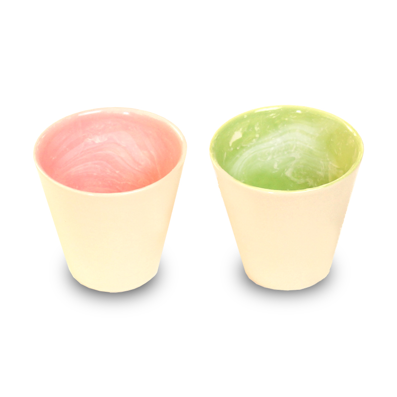 画像1: earth in the cup pair (coral / forest)